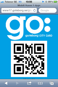 мобильная карта туриста Гётеборг