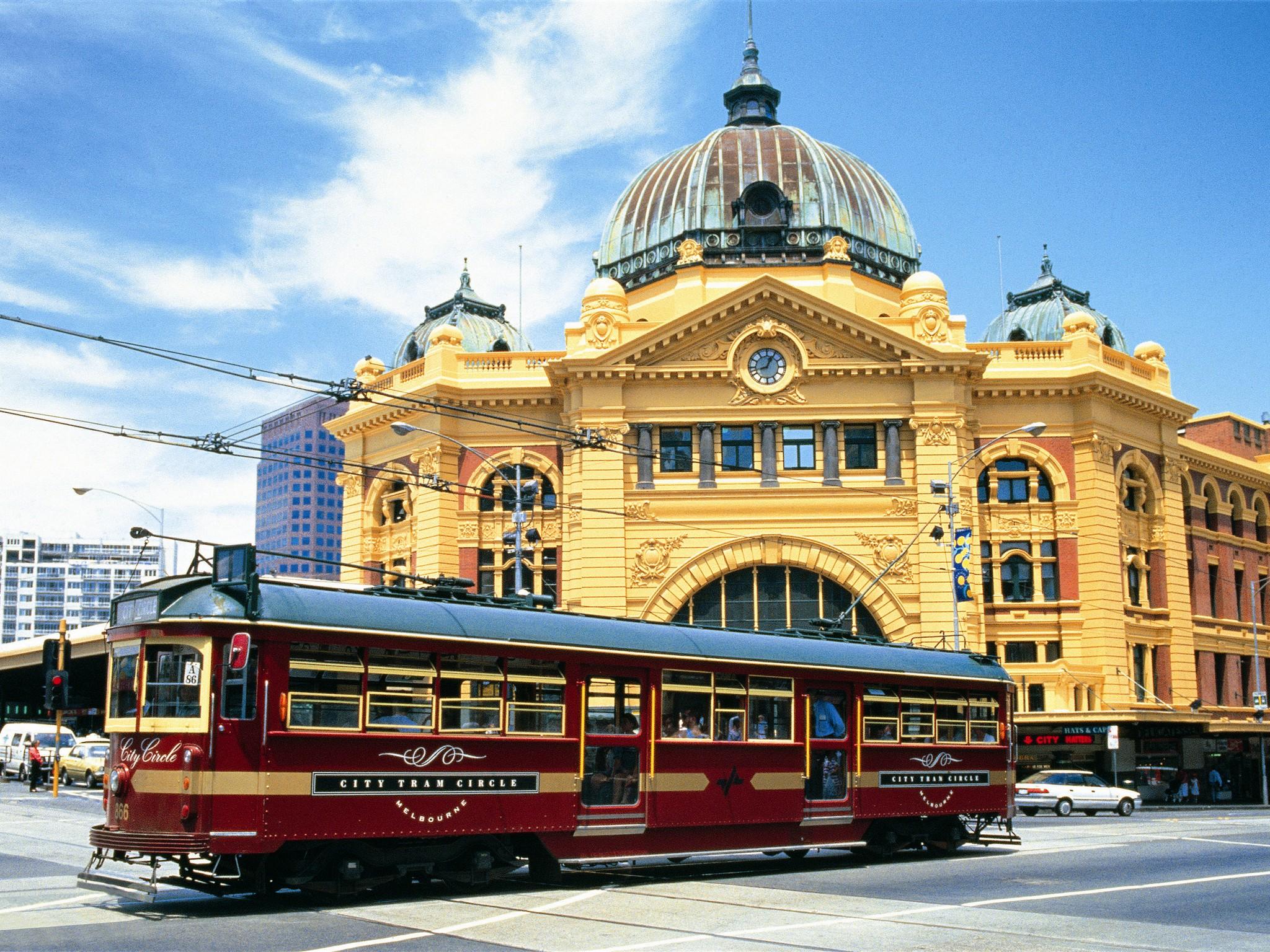 бесплатный трамвай в Мельбурне