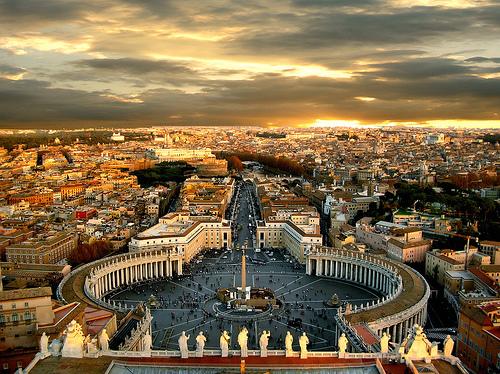 Рим с высоты собора святого Петра