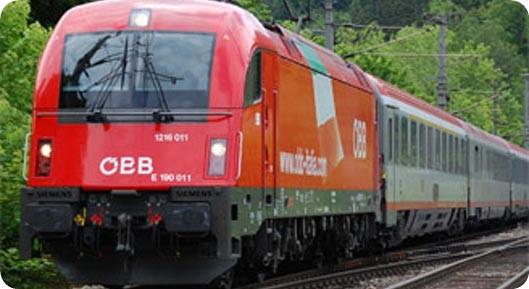 поезд австрийских железных дорог