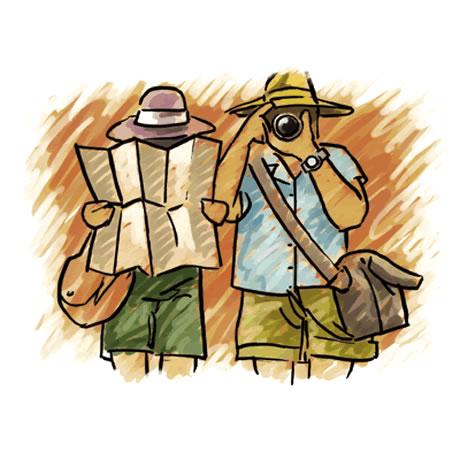 бюджетные туристы